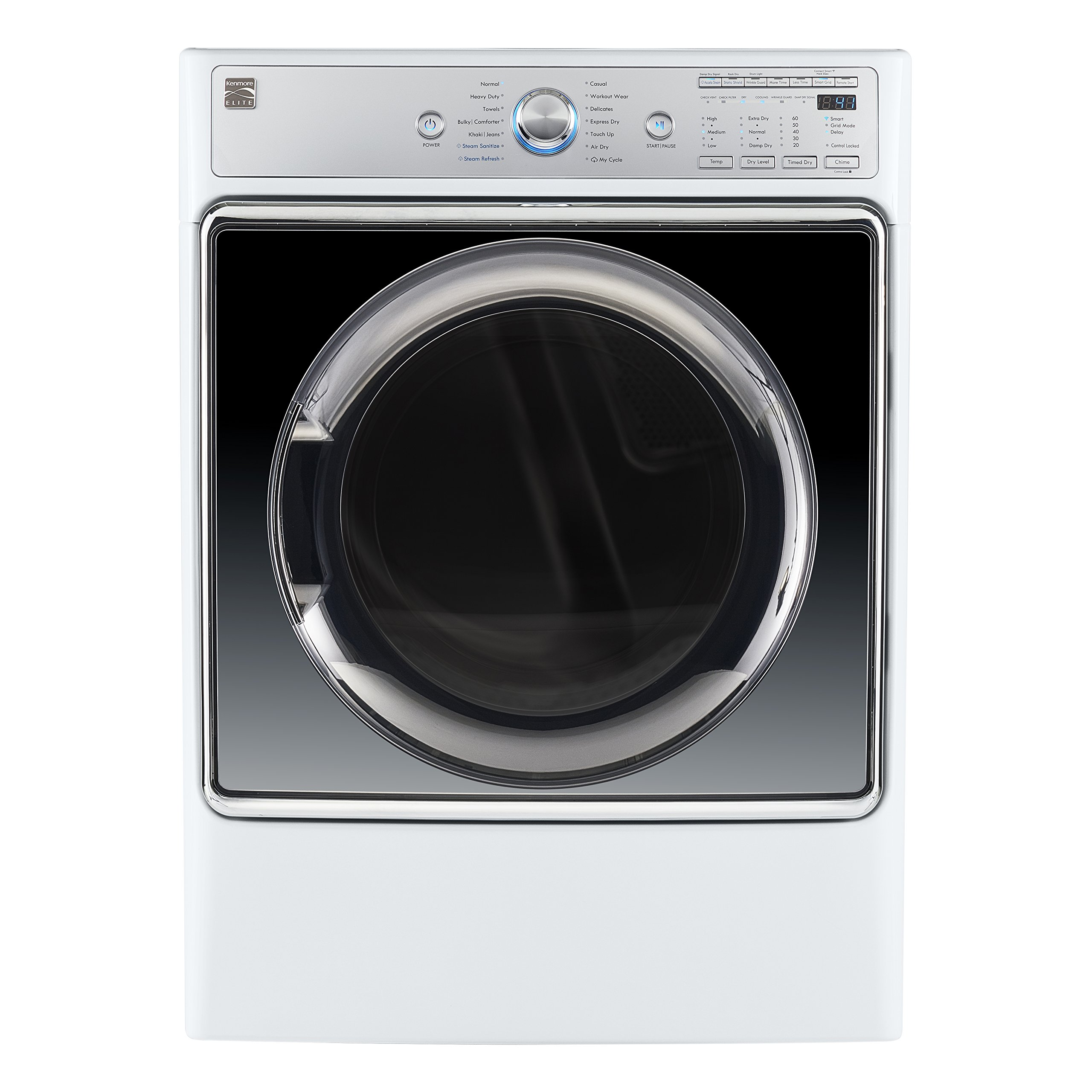 Kenmore Smart 91982 9.0 cu. ft. Gas Dryer with Accela Steam Technology in White - Compatible with Amazon Alexa, includes delivery and hookup (Available in select cities only)