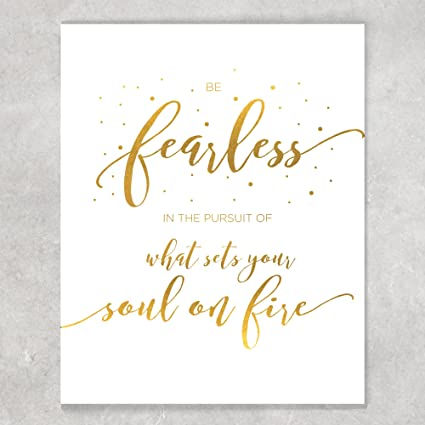 Amazoncom Motivational Message Poster Wall Decor Be Fearless In