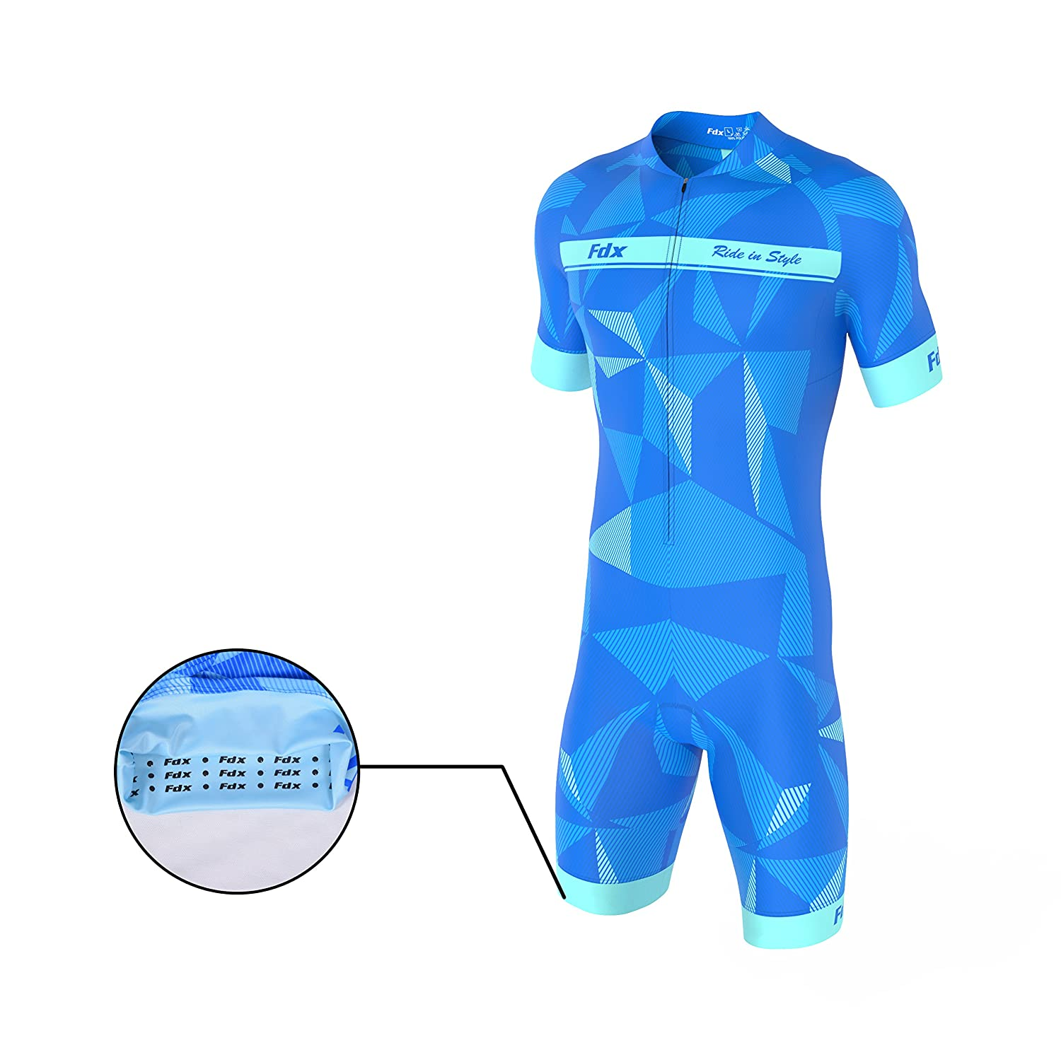7812594e8aa FDX Mens Classic Cycling Skinsuit Stylish Padded One Piece Cycling Tri Suit  Set