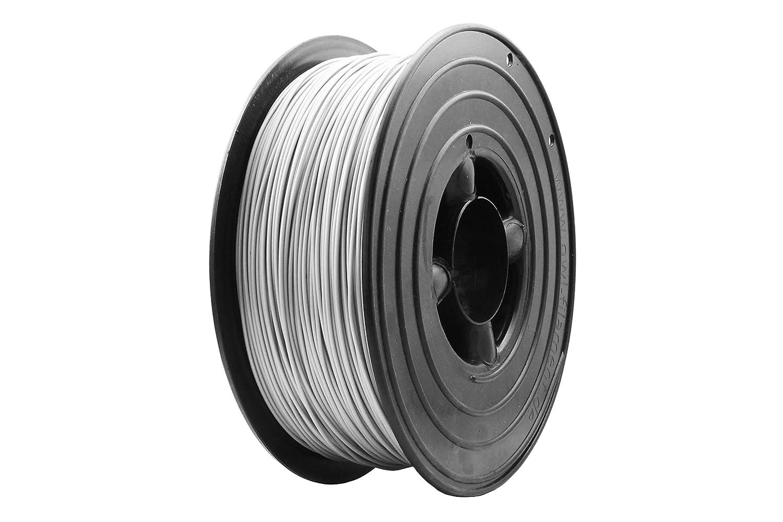 3D Filament 1kg B-Ware Filament Rolle in verschiedenen Farben Rot Gold Silber Grün Blau Braun Lila Violett Beige Transparent Gelb Orange Schwarz Weiß (Silber (B-Ware))