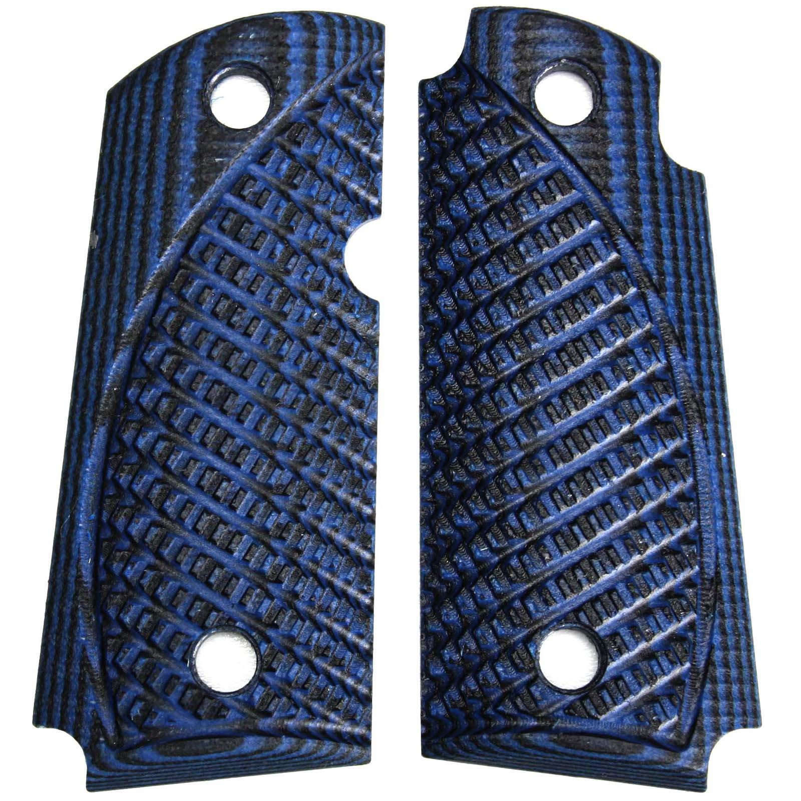 StonerCNC Kimber Micro Carry 9 9mm Spartan G10 Grips with or Without Ambi (Blue Black, Ambi) by StonerCNC