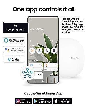 Samsung SMARTBULB/GP-LBU019BBAWU / GP-LBU019BBAWU / Smart Light Bulb SmartThings Dimmable Light Bulb/SmartThings Hub Required (Color: White)