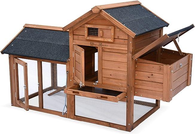Alices Garden - Gallinero de madera, 3 gallinas, jaula de gallina ...