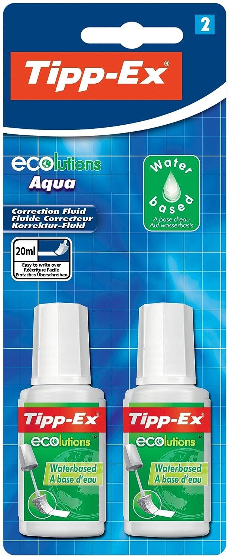 Tipp-Ex Ecolution Blister de 2 Flacons Correcteurs 8806831 Flacon correcteur Fluide correcteur