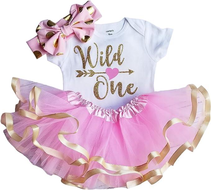 Amazon.com: Primer cumpleaños niña – Wild One: Clothing