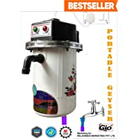 RELAXINDIA MARKETING Plastic Portable Geyser (Brown, 8 inches)