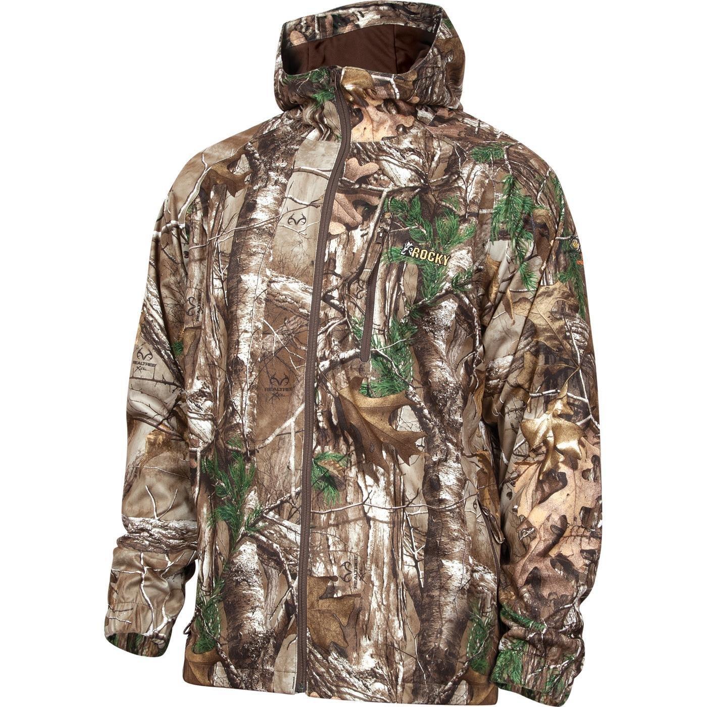 Rocky Men's Silent Hunter Rain Jacket, Camouflage, Large by Rocky