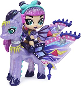 Hatchimals Pixies Riders, Wilder Wings Magical Mel Pixie and Ponygator Glider with 16 Wing Accessories, Girl Toys, Girls Gifts for Ages 5 and up