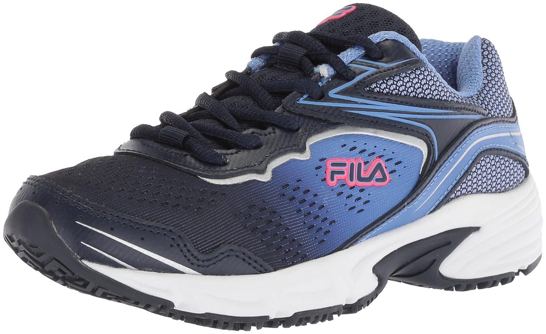 Fila Women's Memory Runtronic Slip Resistant Work Shoe B077BB9HBV 11 B(M) US|Fila Navy/Wedgewood/Deep Pink