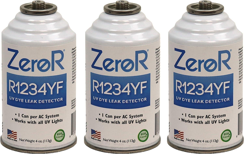 ZeroR R1234YF/_ UV Dye Leak Detector 3 Cans