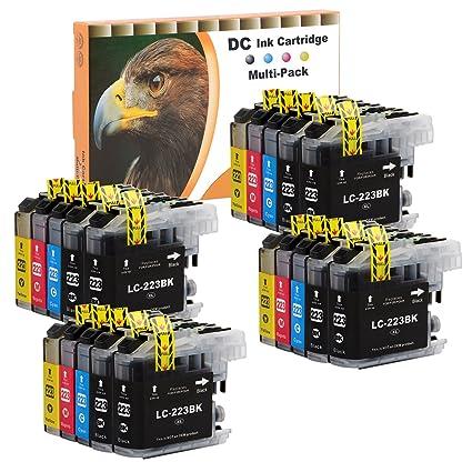 D&C 20er Set Cartuchos de tinta de impresora para Brother LC-221 ...