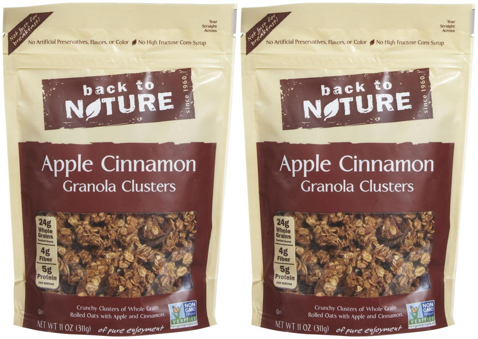 Back to Nature Granola Clusters - Apple Cinnamon - 11 oz - 2 Pack
