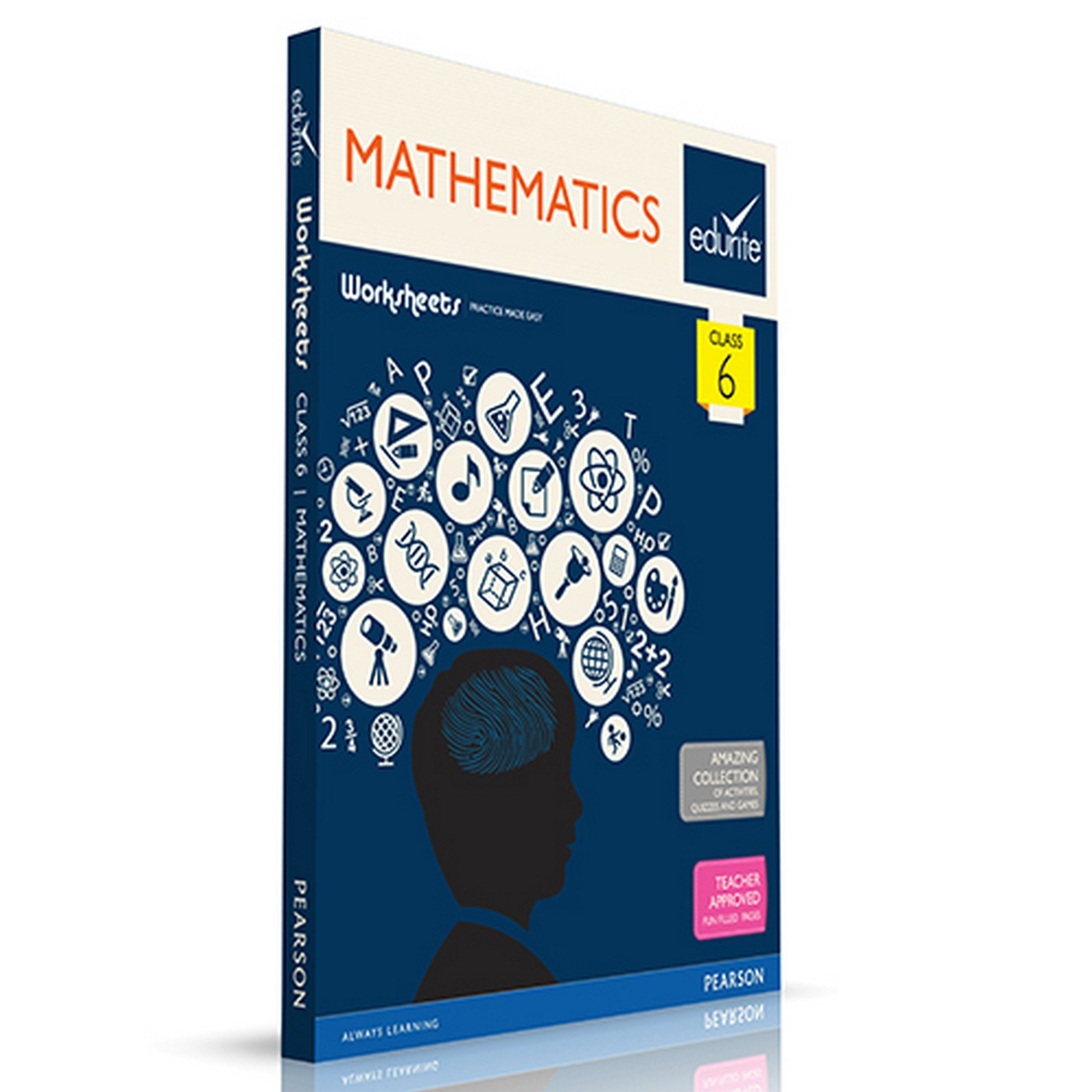 Buy Edurite\'s Worksheets of Maths for Class 6 Book Online at Low ...