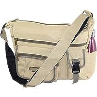 DAHSHA Cotton Jeans Cross Body Sling One Side Bag For Travel College Office Messenger Bag for Men Women