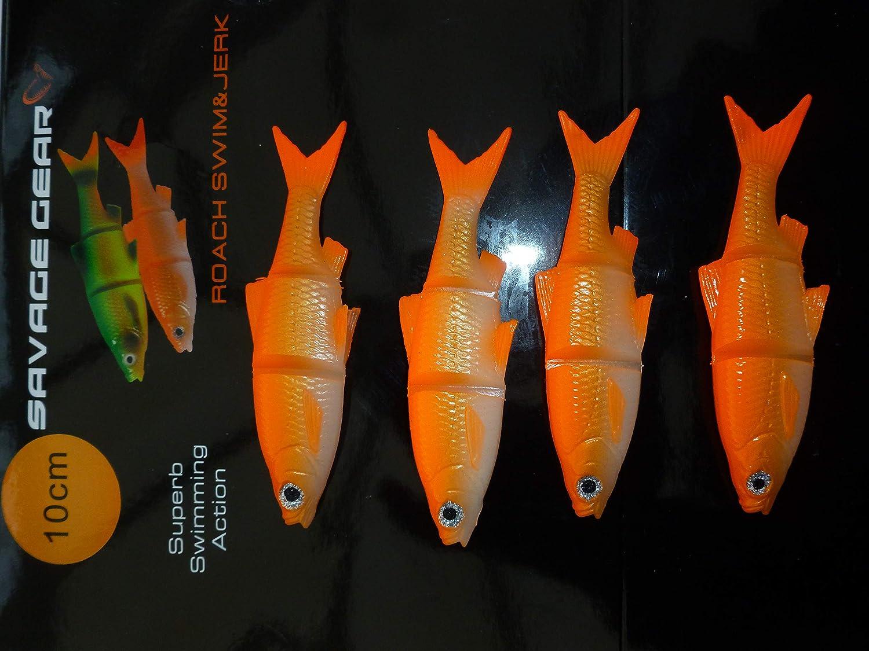 10 cm, 4 Unidades Savage Gear 61895 Se/ñuelos de Pesca
