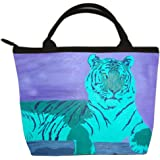 Tiger Small Handbag - From My Original Painting, A Watchful Queen - Support Wildlife Conservation, Read How