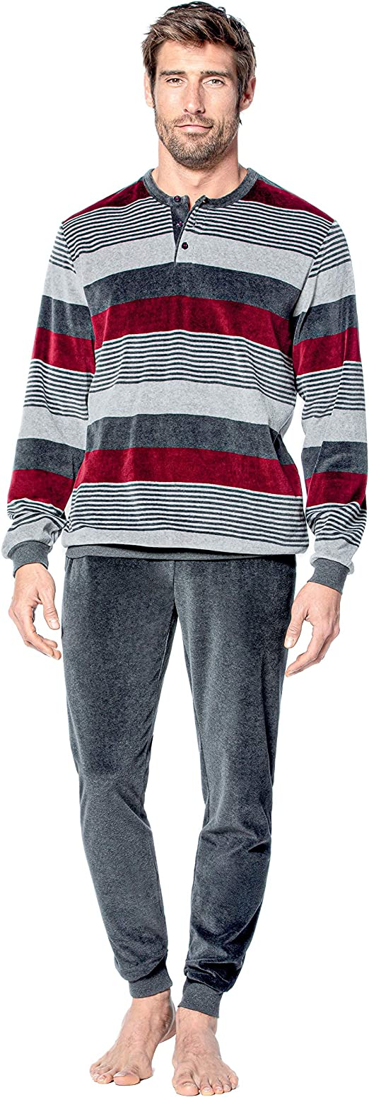 Guasch - Pijama de Punto de Terciopelo Multicolor XL: Amazon ...