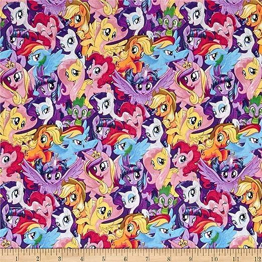 100/% algodón Mi Pequeño Pony Tela Amigos diseño colorido Springs Creative