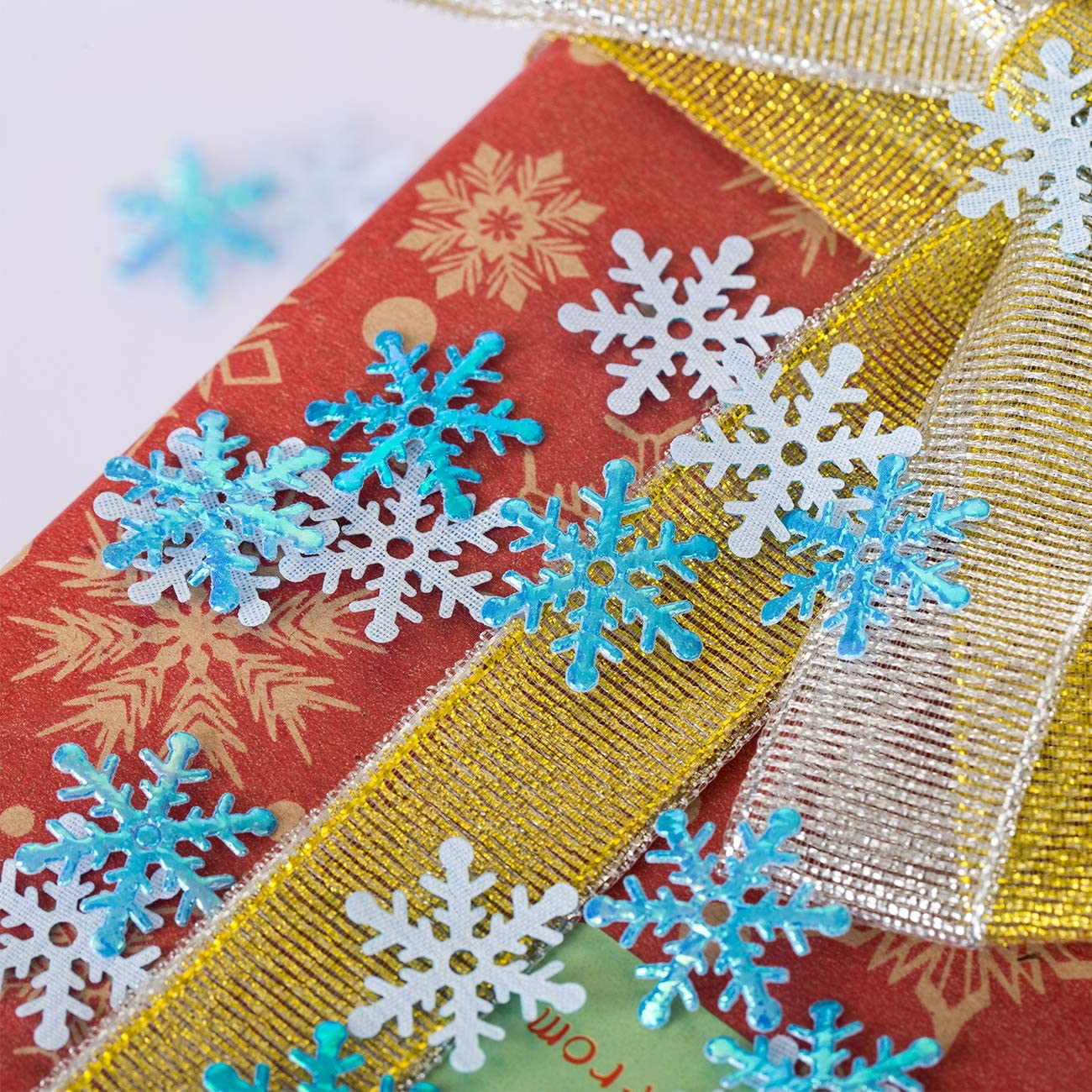 GWHOLE 600 x Konfetti Schneeflocken Silber Weihnachten Tisch Deko Basteln DIY
