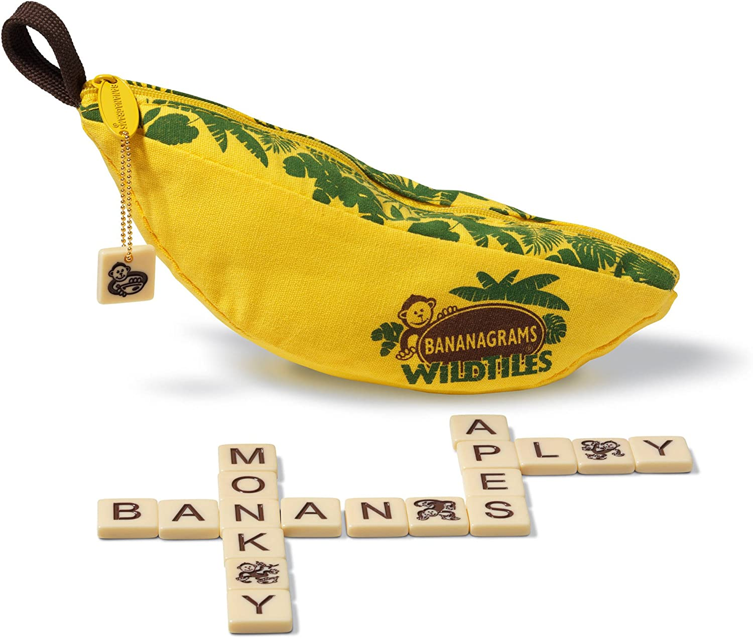 Bananagrams WildTiles Vocabulary Building and Spelling Improvement Lettered Tile Game for Ages 7 and Up