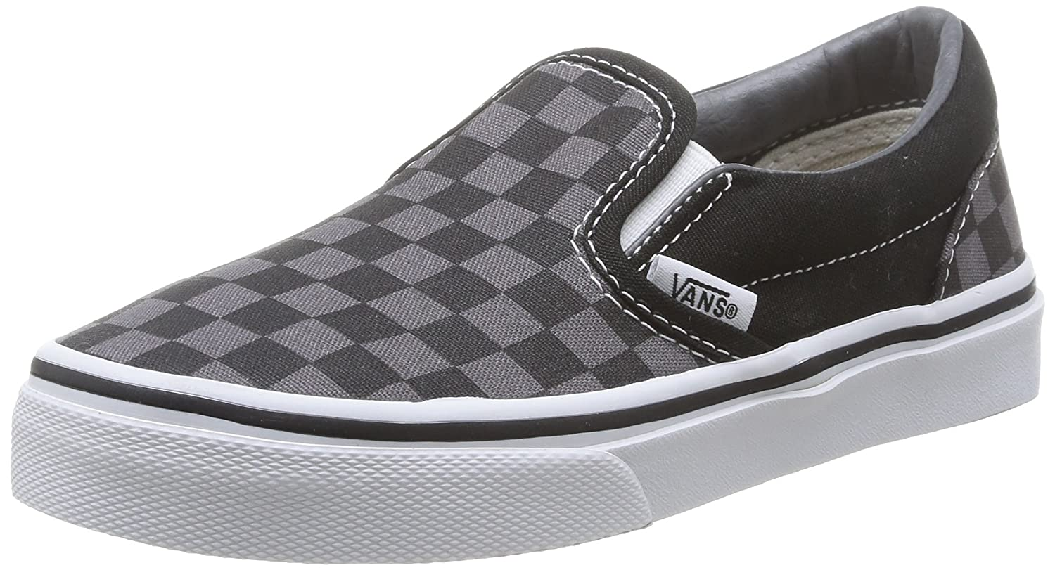 Vans ' Classic Slip-on (Little Big) B00KC8ZRXK 3 Youth|(Checkerboard) Black/Pewter