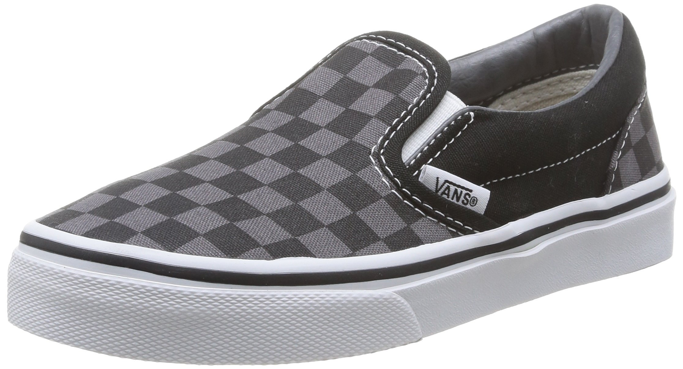 Vans Boys' Classic Slip-On (Tod/Yth) - (Checkerboard) Black/Pewter - 11 Toddler