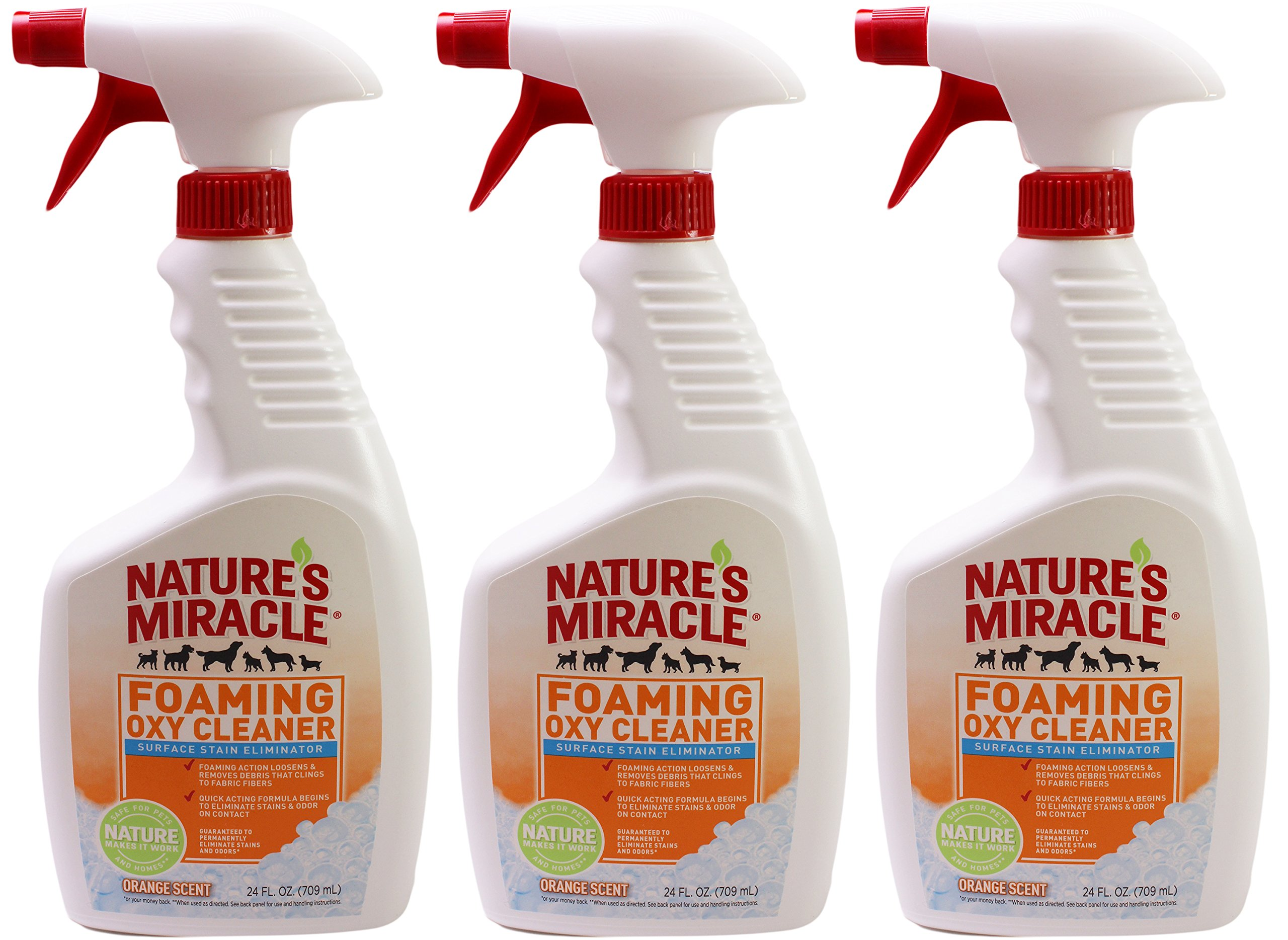 Nature's Miracle Foaming Oxy Cleaner Stain Eliminator Orange Scent (Pack of 3)