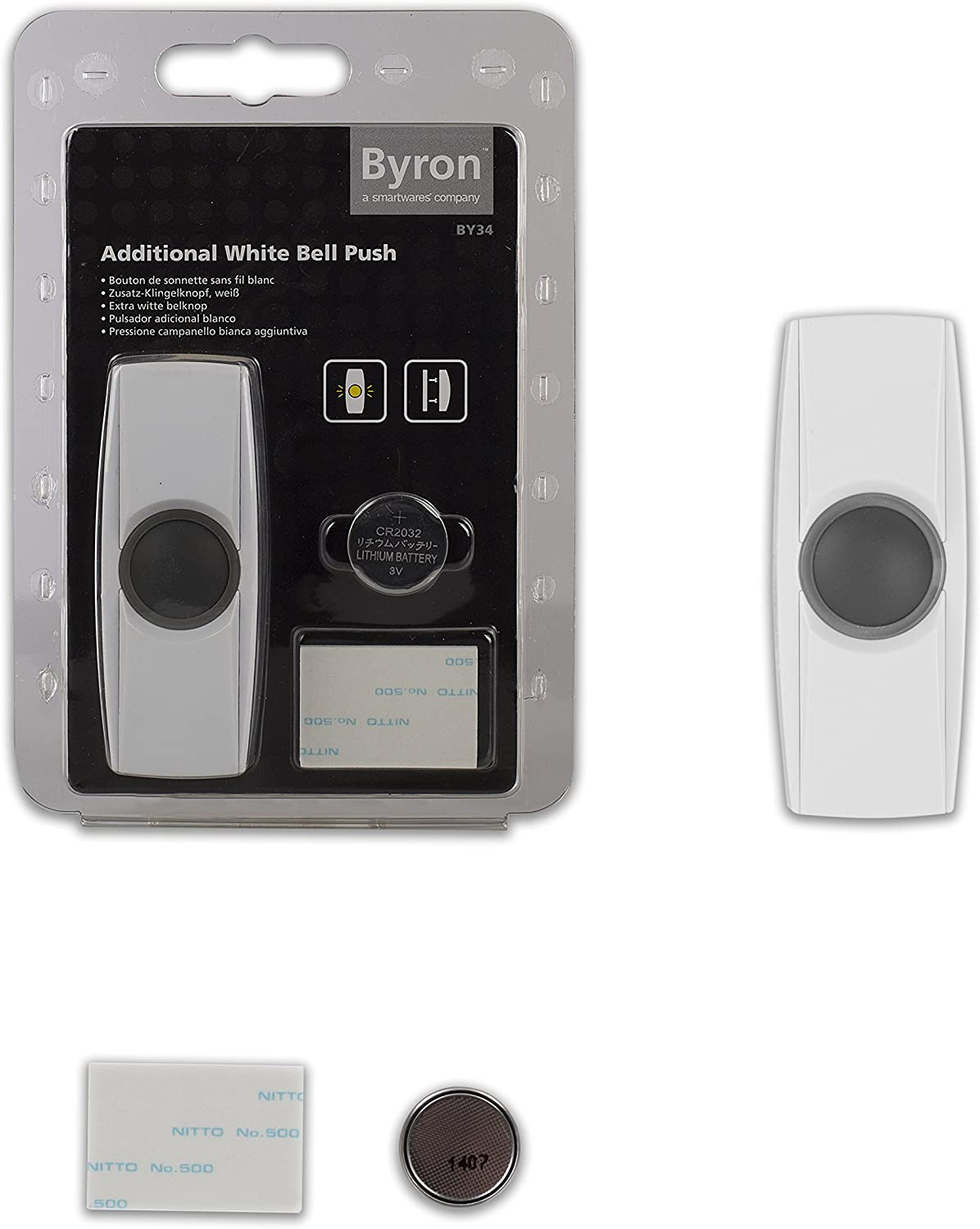 BY series Byron BY34 Extra wireless bell push White