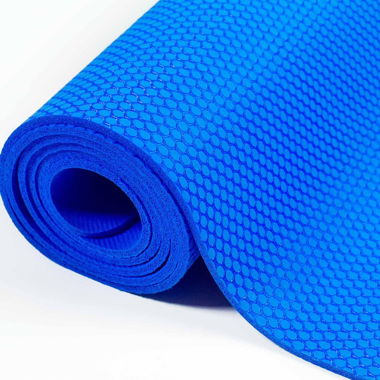 Esterilla de yoga «Rubin» de goma natural (caucho) -183 x 61 x 0,4 cm - Esterilla de yoga antideslizante: ideal para profesores de yoga y escuelas de ...