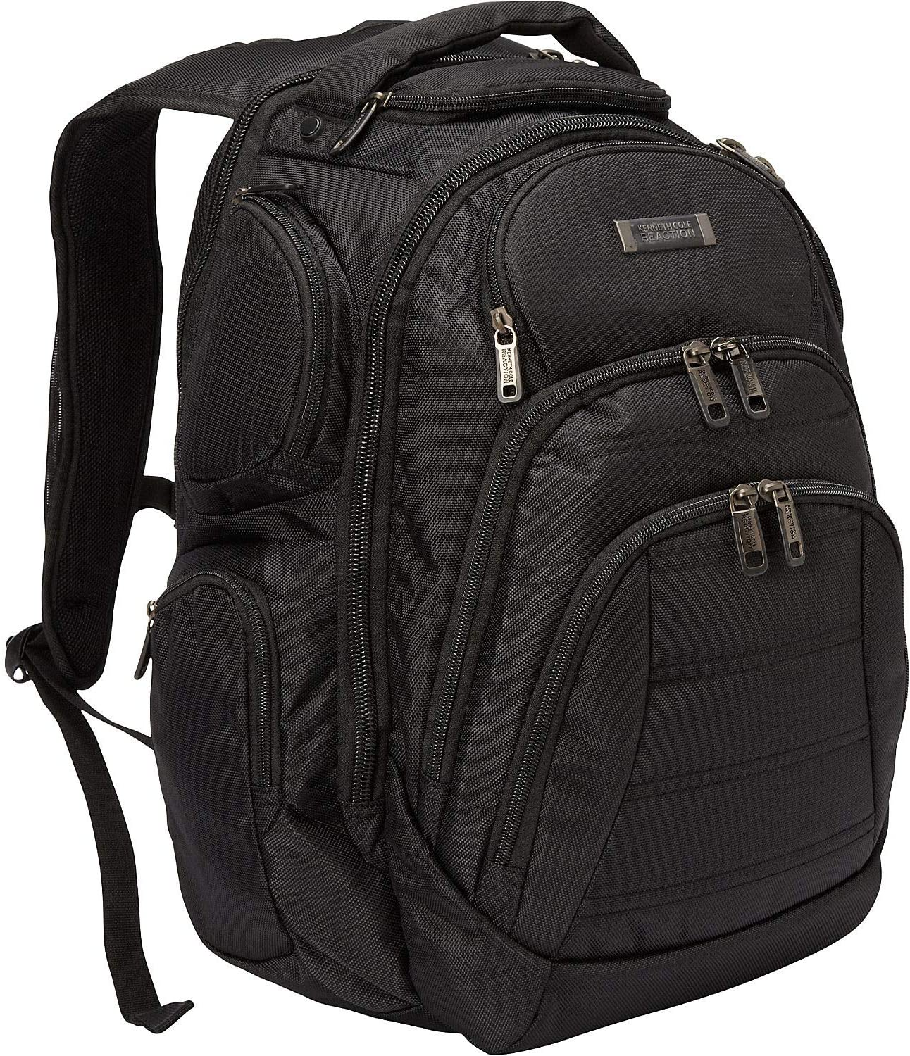 "Kenneth Cole Reaction Pack-of-All-Trades' Multi-Pocket 17.0"" Laptop & Tablet Business Travel Backpack, Black, One Size"
