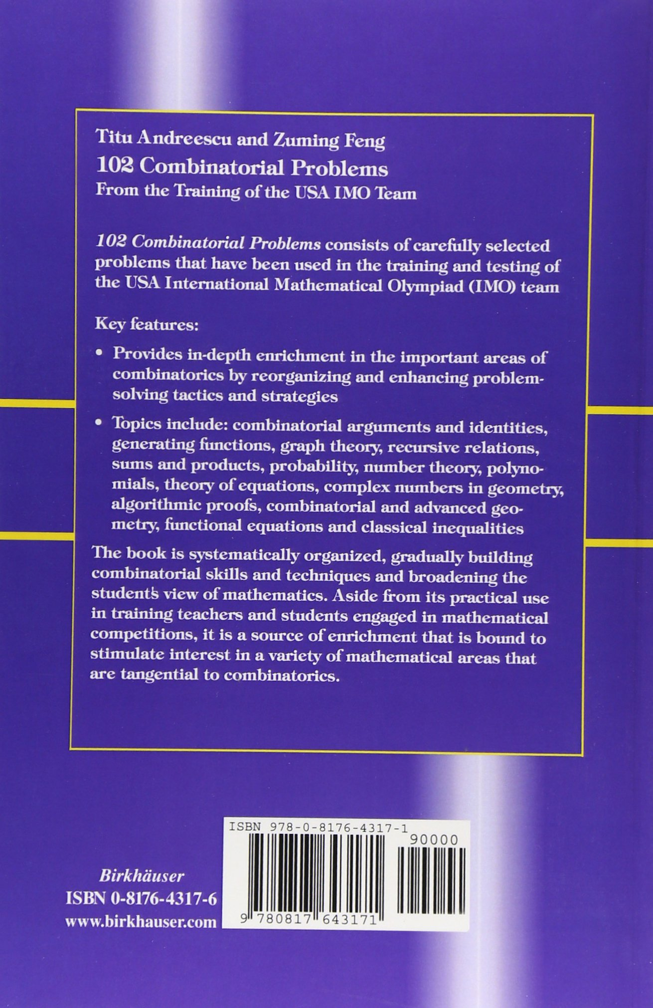 102 Combinatorial Problems: From the Training of the USA IMO Team:  Amazon.de: Titu Andreescu, Zuming Feng: Fremdsprachige Bücher