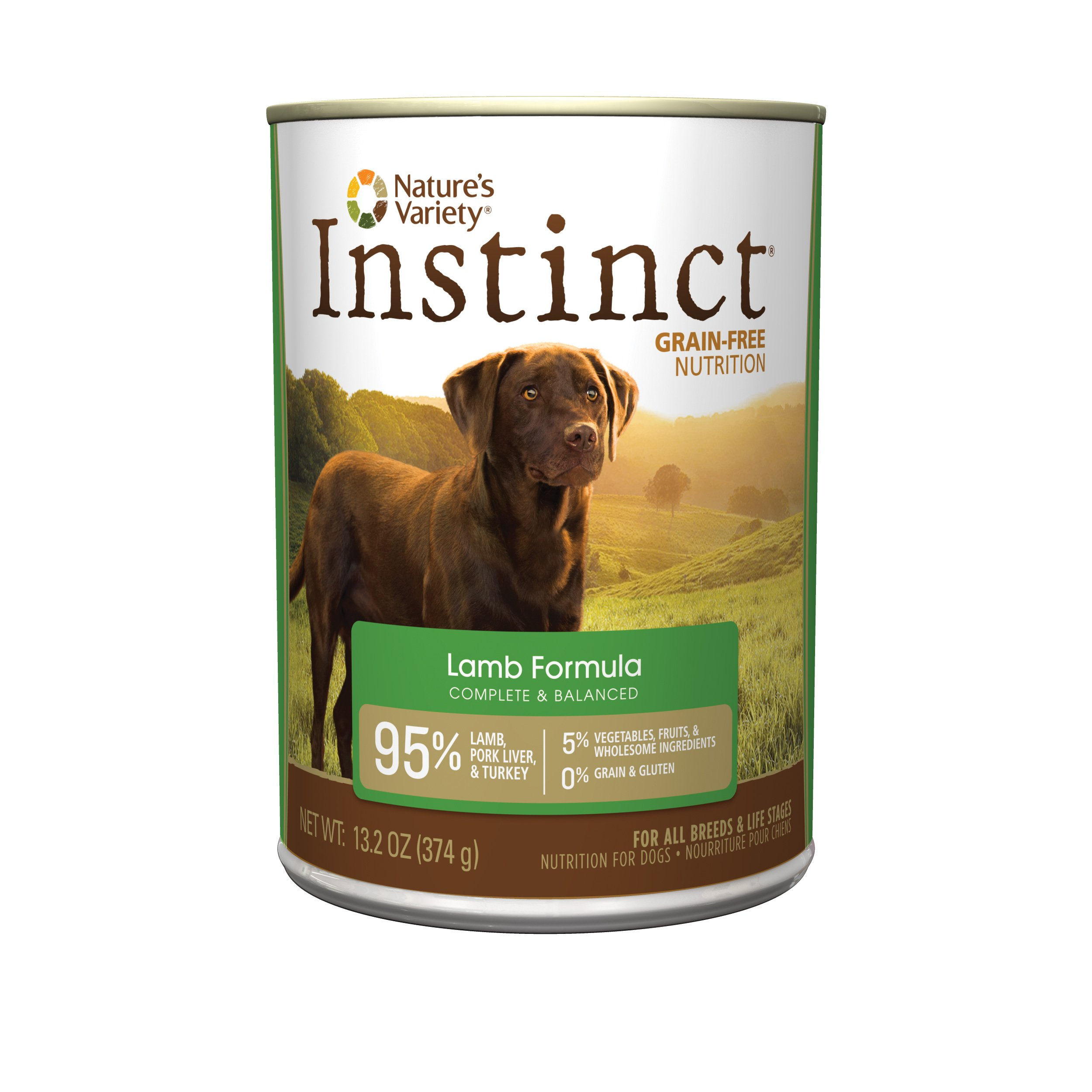 Nature'S Variety Instinct Grain Free Lamb Formula Natural Wet Canned Dog Food By, 13.2 Oz. Cans (Case Of 12) by Nature's Variety