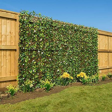 Superior Artificial Hedge Flower Garden Screening Expanding Trellis Privacy Screen 2  X 1m