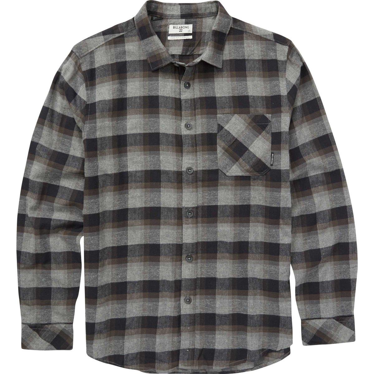 Billabong Boys' Big Freemont Flannel Shirt, Black, M