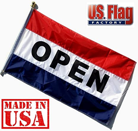 Amazon us flag factory 3x5 nylon open flag sewn stripes us flag factory 3x5 nylon open flag sewn stripes outdoor publicscrutiny Image collections