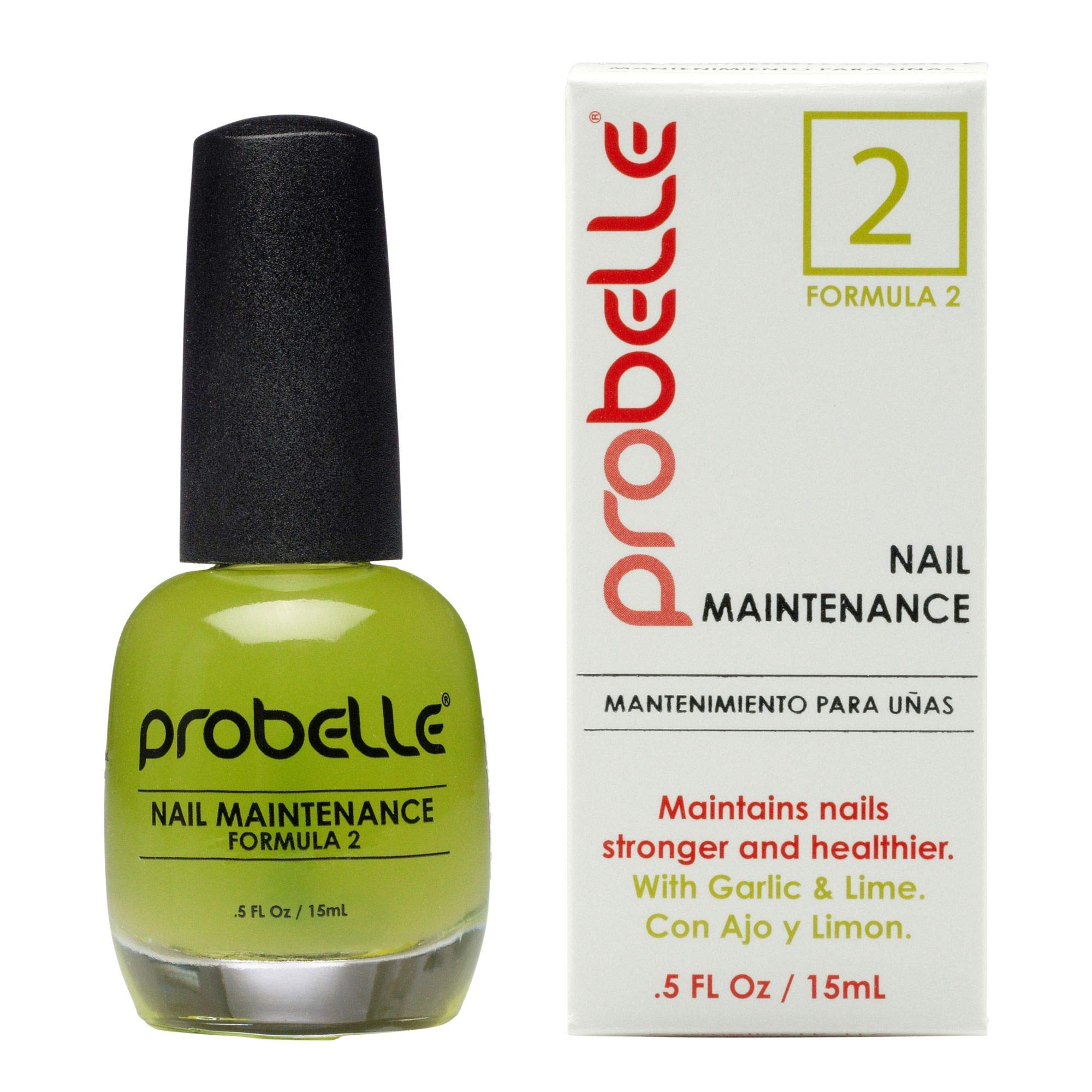 Probelle Formula 2 Nail Maintenance with Garlic and Lime.5 fl oz/ 15 mL by Probelle