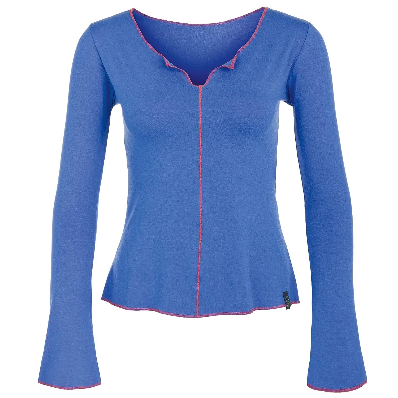 Langarm Yoga Shirt blau, DEVI LONGSLEEVE von hut und berg balance