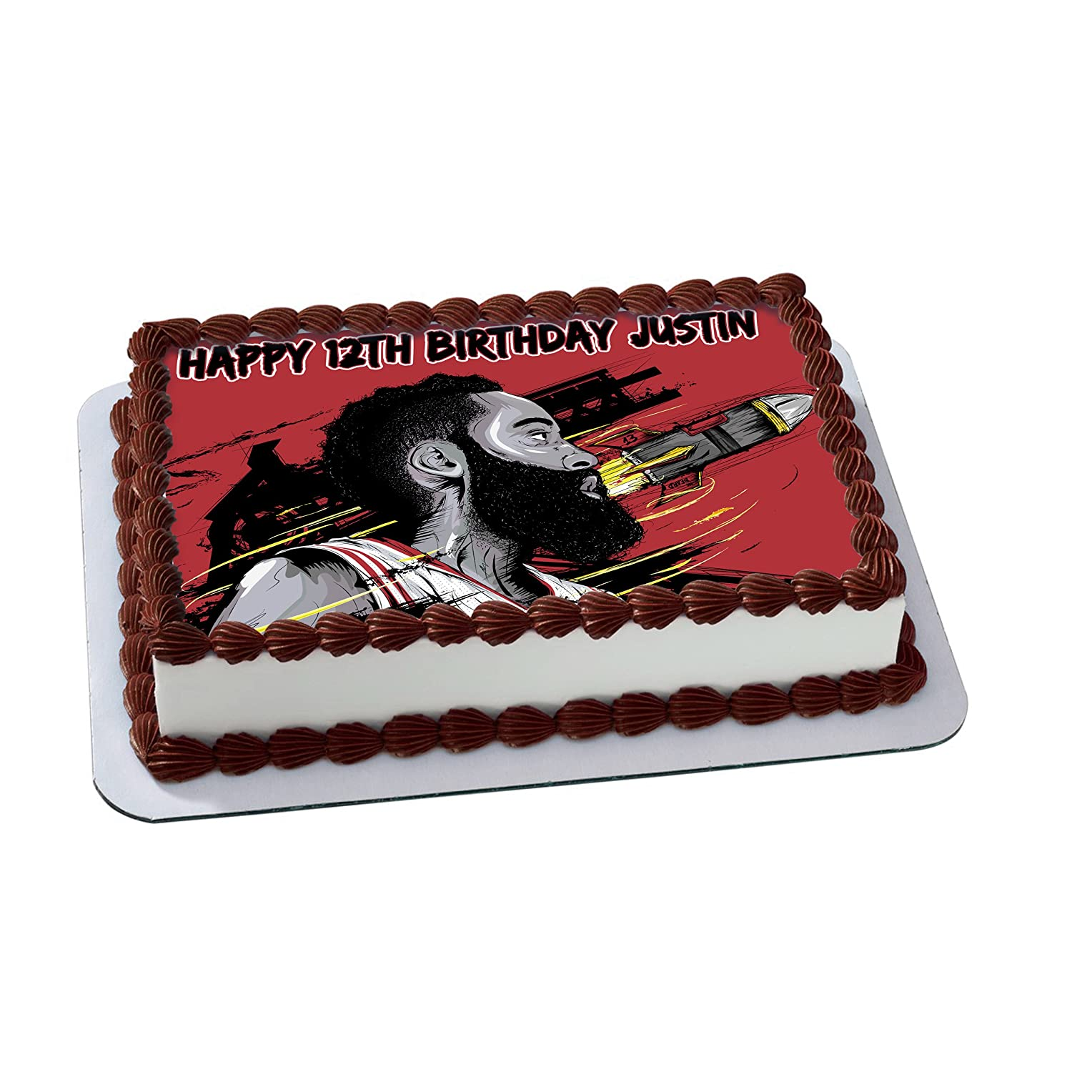 James Harden Houston Rockets Personalized Cake Toppers Icing Sugar