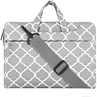"Mosiso Quatrefoil Style Fabric Laptop Sleeve Case Cover Bag with Shoulder Strap 11-11.6"" Gray"