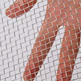 AIEX 304 Stainless Steel Woven Wire 5 Mesh for Air Ventilation Protecting Mesh for Metal Security Guard Garden Screen Cabinet