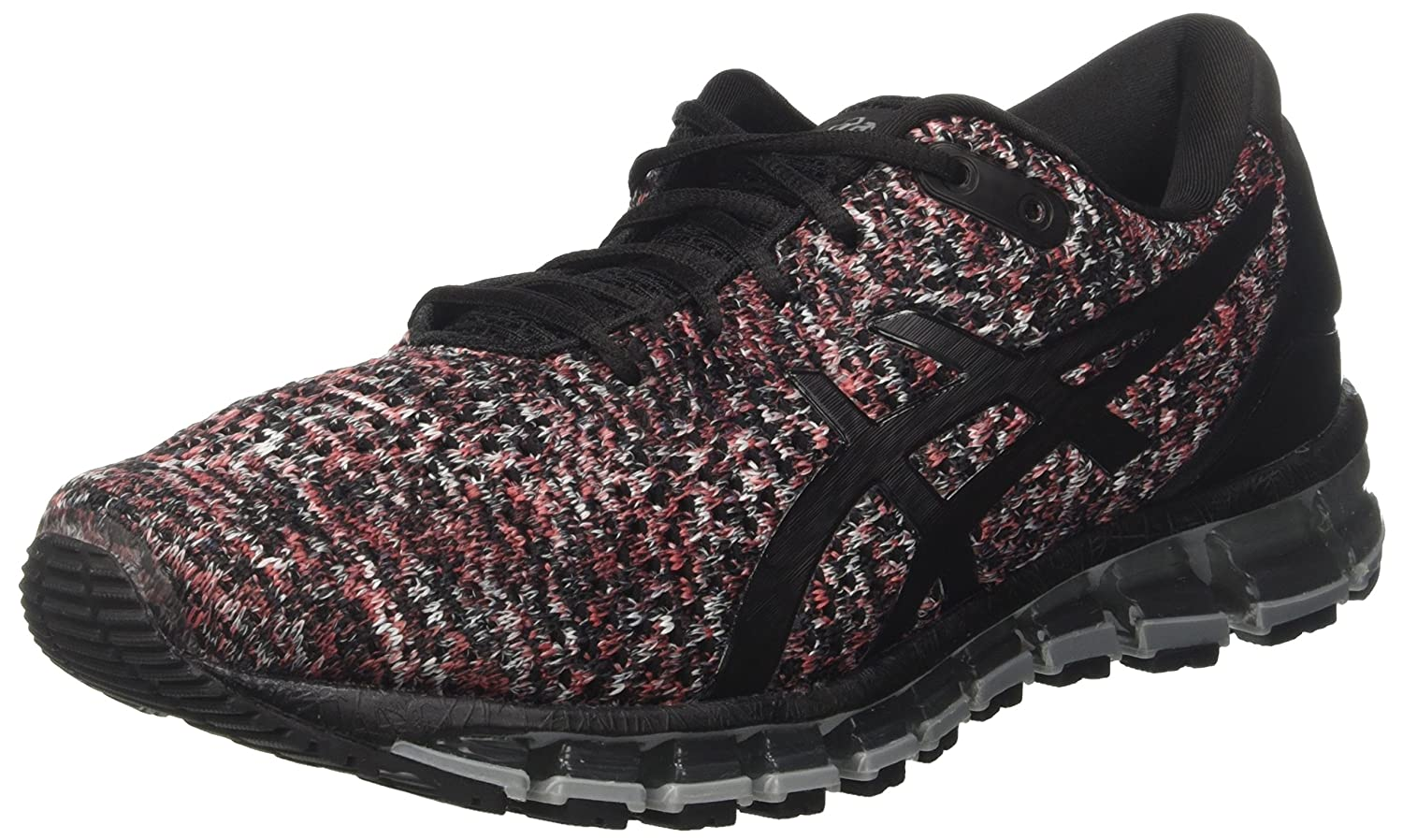 Asics Gel-Quantum 360 Knit 2, Zapatillas de Running para Hombre 42.5 EU|Multicolor (Black/Classic Red/Stone Grey 9023)