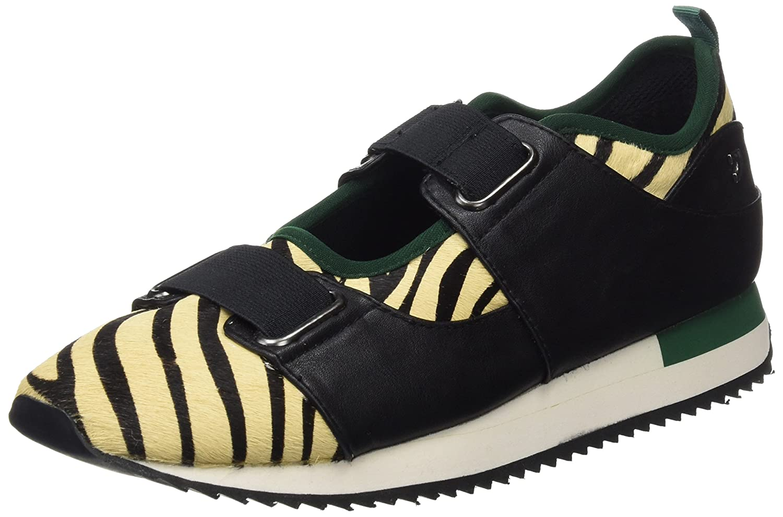 Gioseppo 30999, Zapatillas para Mujer 38 EU Negro (Cebra)