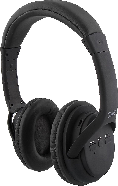 Auriculares 2 en 1 de Color Negro: Inalámbricos y con tecnología con Bluetooth Wireless - Compatible con Cualquier Dispositivo electrónico.