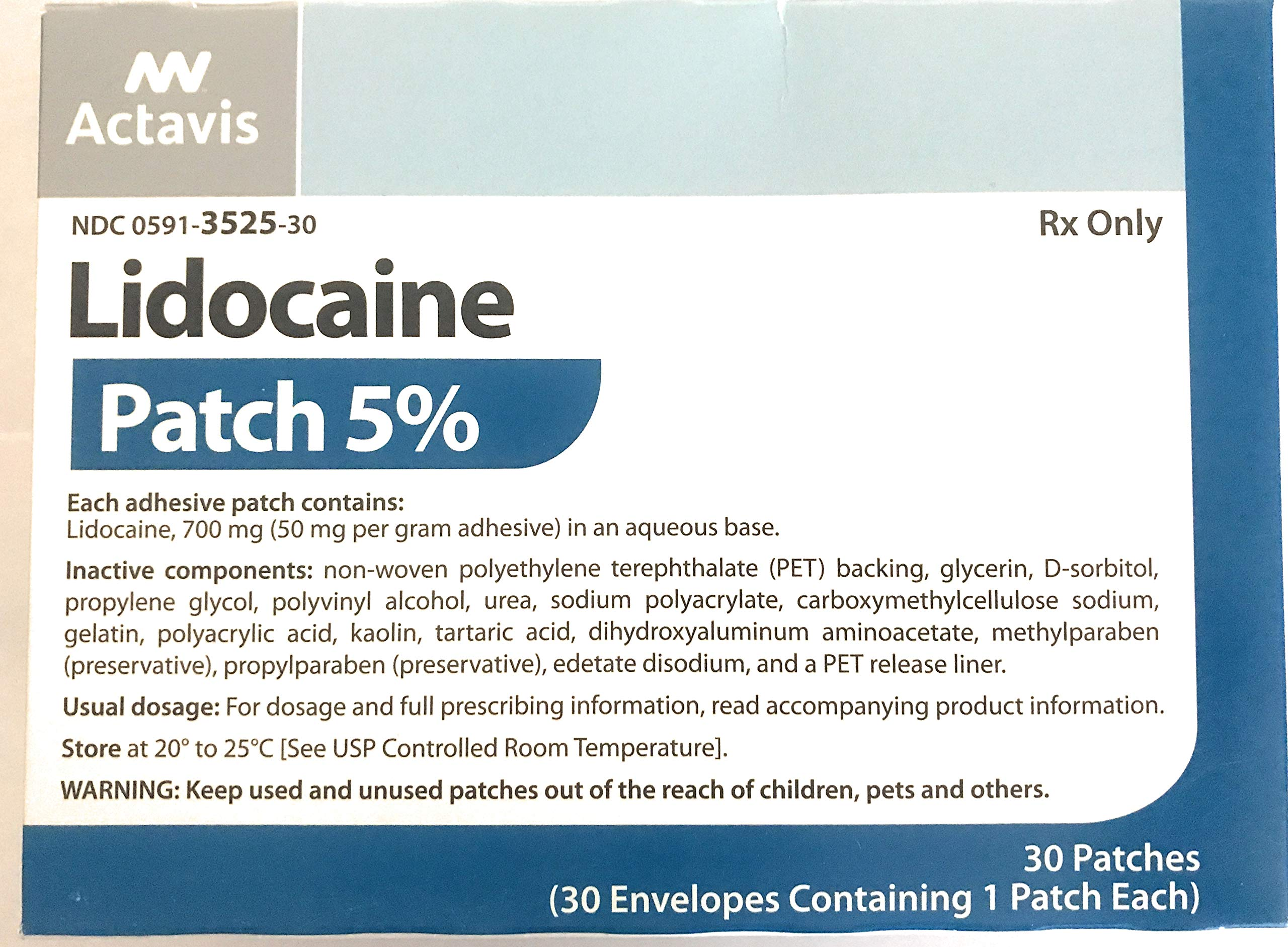 Lidocaine Prescription Maximum Strength Patch 5% Ndc 0603-1880-16 (30 Patches)