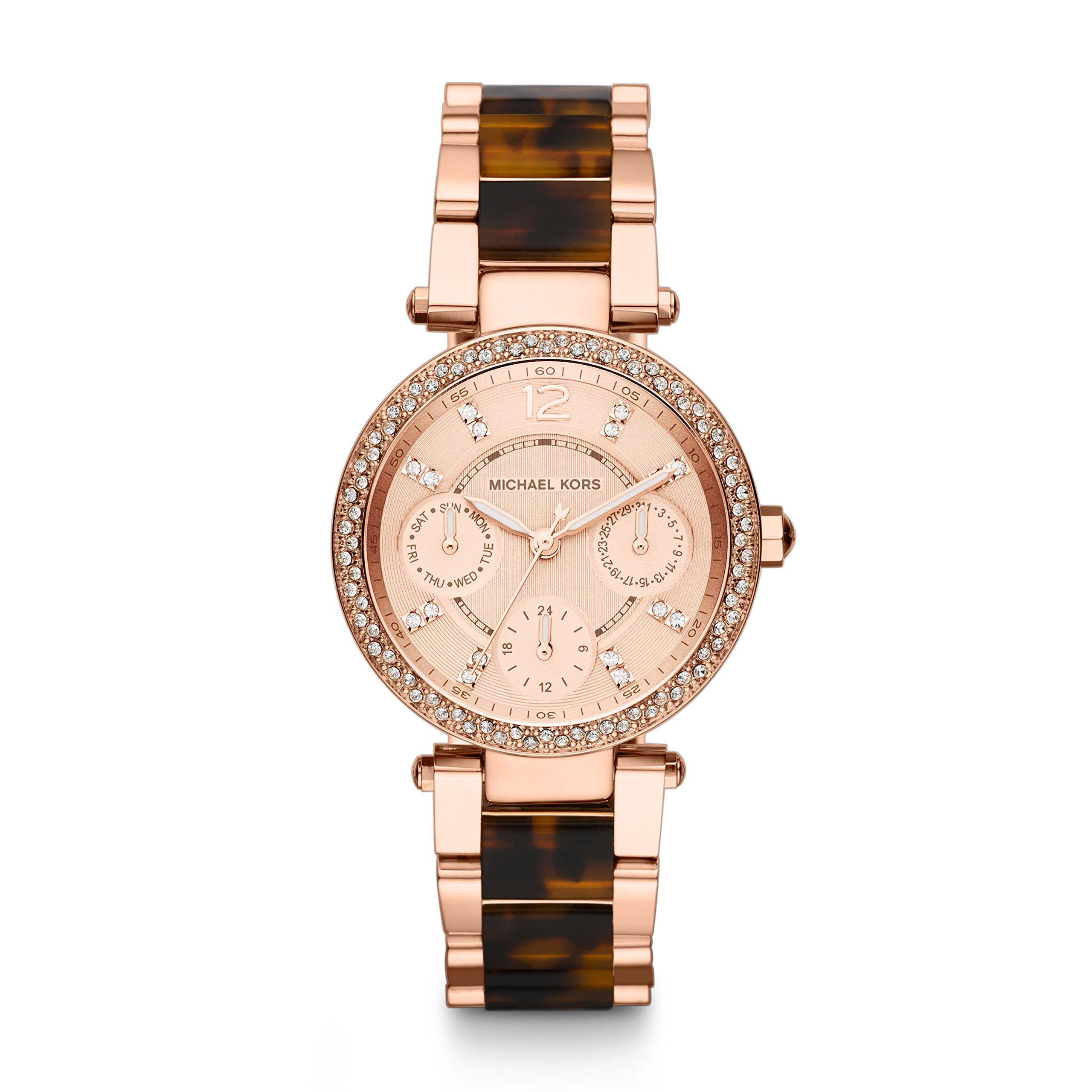 Michael Kors Two-Tone Glitz Parker Watch