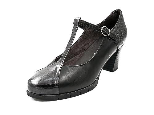 9e457a8c9d7 Zapato vestir cómodo con tacón PITILLOS, disponible en colores negro y  burdeos combinados con charol - 1276 - 576n y 575n: Amazon.es: Zapatos y  complementos