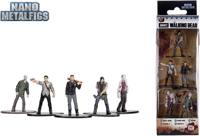 Glenn /& More Jada Nano Metalfigs 5 Pack The Walking Dead Negan Daryl