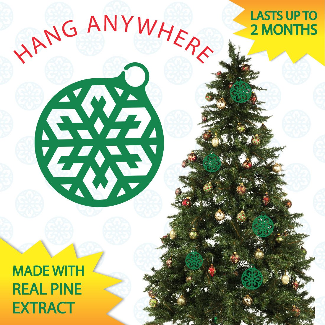 Amazon.com: Pine Scents: All Natural Pine Infused Ornaments - Smells ...