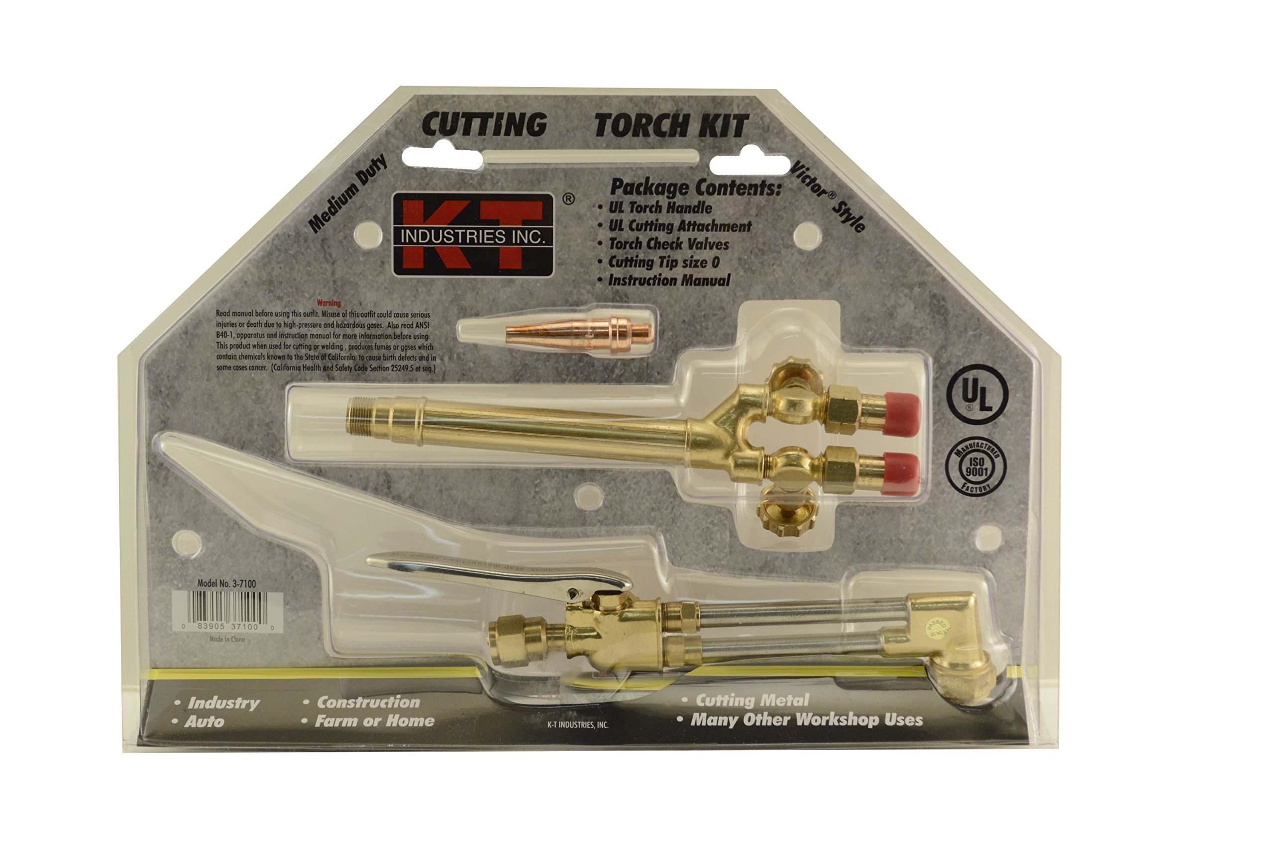 3 Piece K-T Industries 3-7100 Victor Style Torch Kit Victor Style