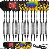 CyeeLife 15PCS-Soft tip Darts 18g-180Tips-15Alu shafts-30Flights(Standard&Slim)-Sliver/Gold/Black-Gift Box Packaging